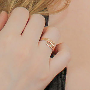 Rose Gold Filled Initial Wrap Around Ring